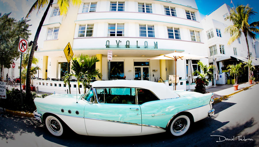Ocean Drive, Miami, Florida. Photography by Daniel Thubron